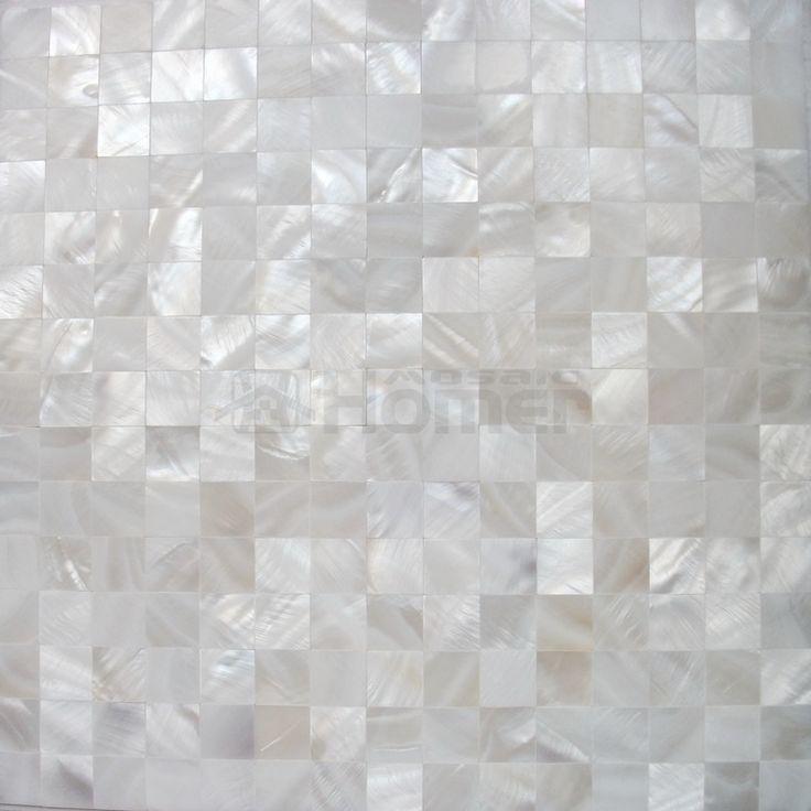 pure white shell mosaic tiles, backsplash mosaic tiles, panay mother of pearl mosaic tiles, cheap mosaic tiles, 11 sq ft/lot-in Mosaics from...