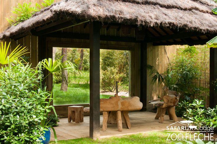 Jardin et terrasse avec vue sur les Tigres Blancs
