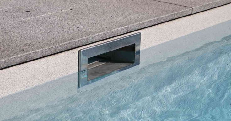 Pool Skimmer: STAINLESS STEEL SKIMMER Stainless steel skimmers and covers, water level of 14 cm.