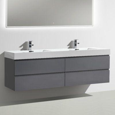 "Morenobath MOF 71"" Double Bathroom Vanity Set"