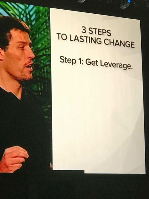 We couldn't agree more Tony! This week co-founder Nick Sonnenberg has been the Tony Robbins event in LA... Unleash The Power Within... #TonyRobbinsUPW Take #TonyRobbins advice and #GetLeverage ... www.getleverage.com hello@getleverage.com