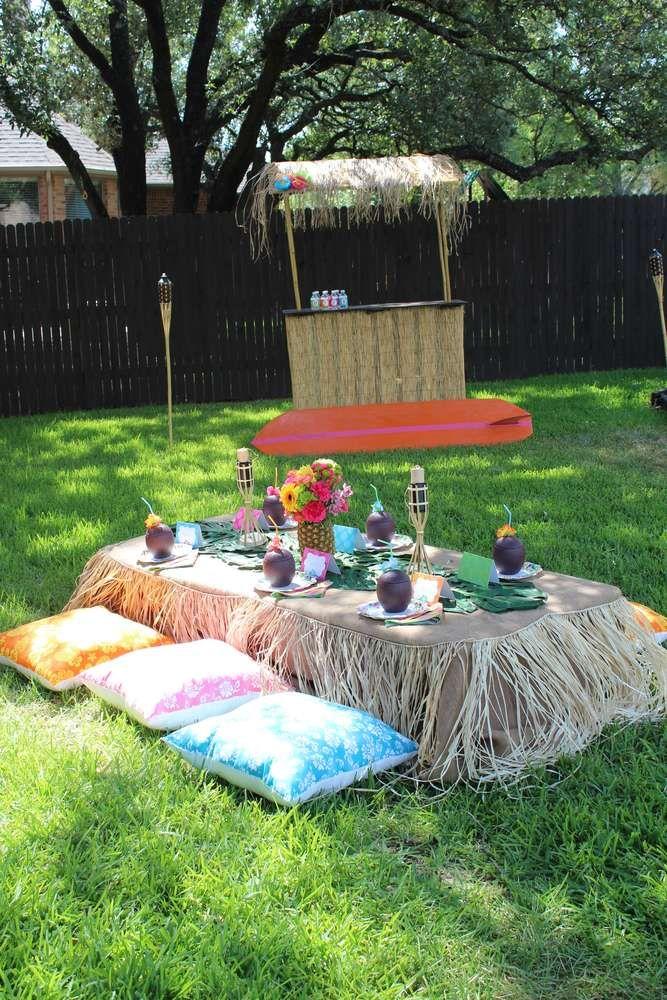 Luau Hawaiian Birthday Party Ideas