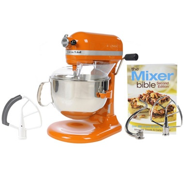 The Shopping Channel - KitchenAid® Pro 600 6qt Stand Mixer with Bonuses, Accessories & $50 Mail-in-Rebate - TANGERINE - #ilovetoshop