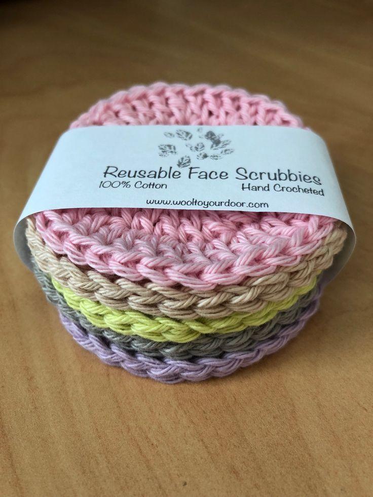 Kostenlose Muster – wiederverwendbare Gesichtspeelings, #crochetscrubbies #gesichtspeelings #…
