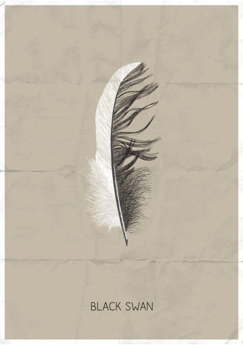 .Minimalist Posters, Movie Posters, Swan Posters, Black Swan Movie, Blackswan, Art Prints, Art Design, Black Swann, Sof Andrade