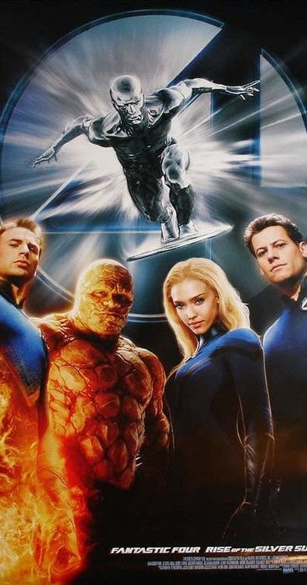 Fantastic Four Rise Of The Silver Surfer Movie Poster Gallery Imp Awards Silver Surfer Movie Silver Surfer Fantastic Four