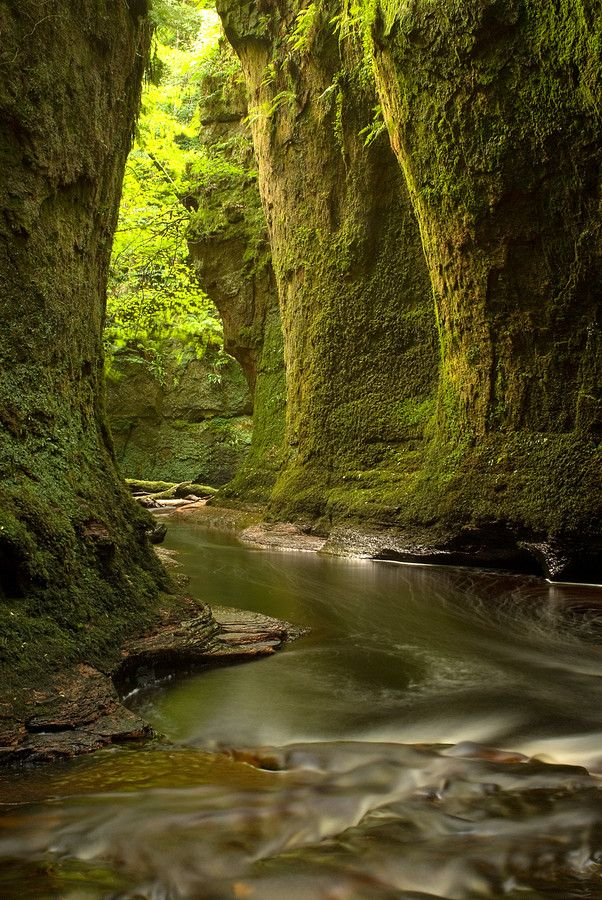 Finnich Glen near Loch Lomond Scotland.