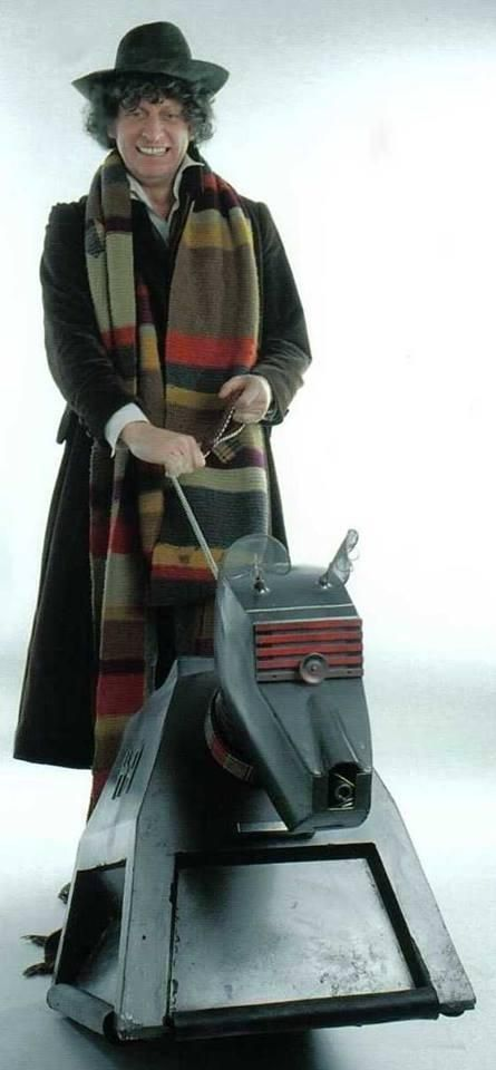 The Fourth Doctor (Tom Baker) and K-9.