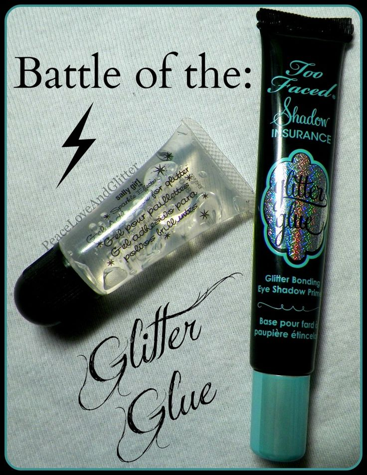 Ever have trouble getting loose glitter makeup to stick?  See which glitter glue is the best.  Click to read!