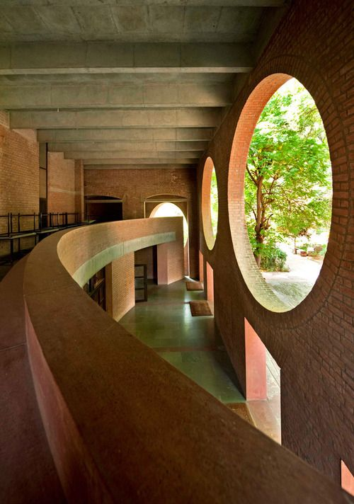 The Indian Institute of Management, in Ahmedabad. India. Designed by Louis Kahn.