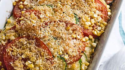 Tomato-Zucchini Bake | Zucchini may be at the back of the alphabet, but it's at the front of our minds when it comes to summer vegetables.