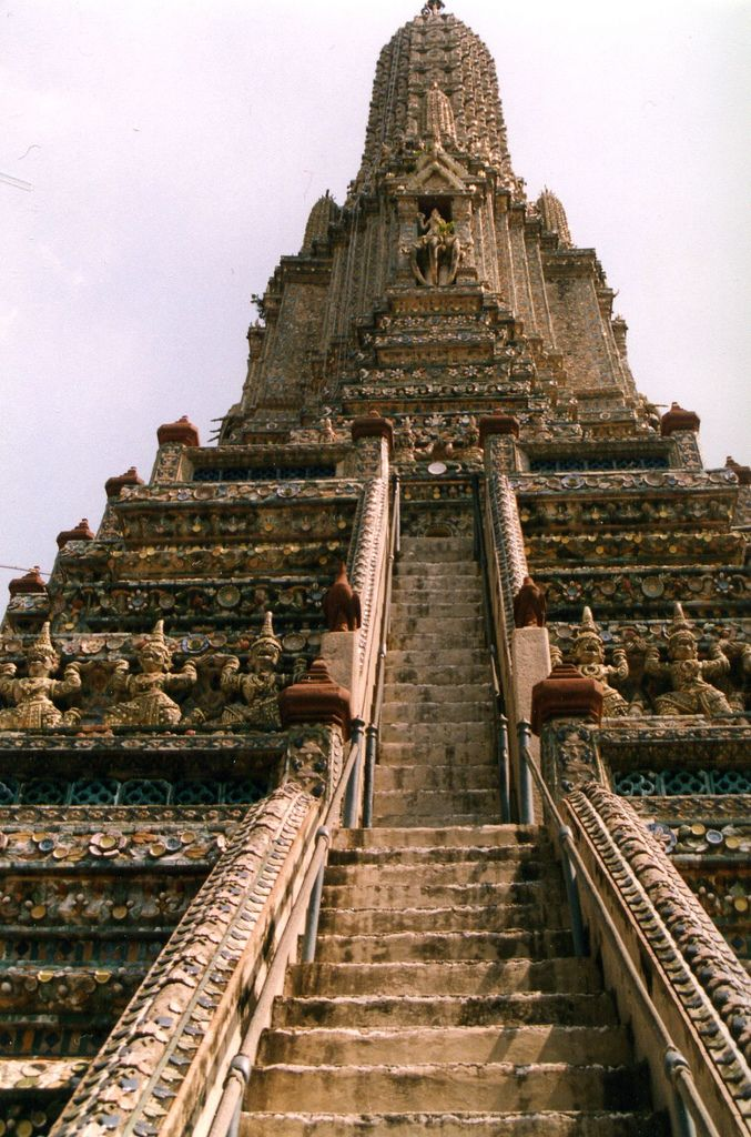 Wat Arun Temple, Bangkok, Thailand   - Explore the World with Travel Nerd Nici, one Country at a Time. http://TravelNerdNici.com