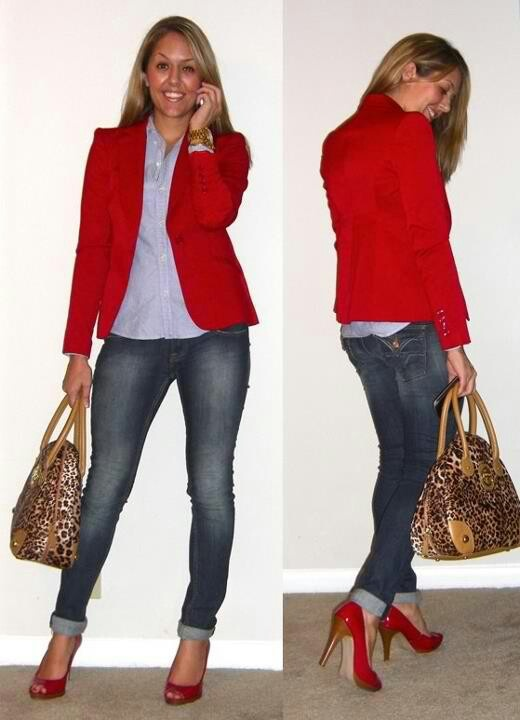 Red blazer..coordinate with nude heels | Red Jacket | Pinterest | Bags Blazers and Red blazer
