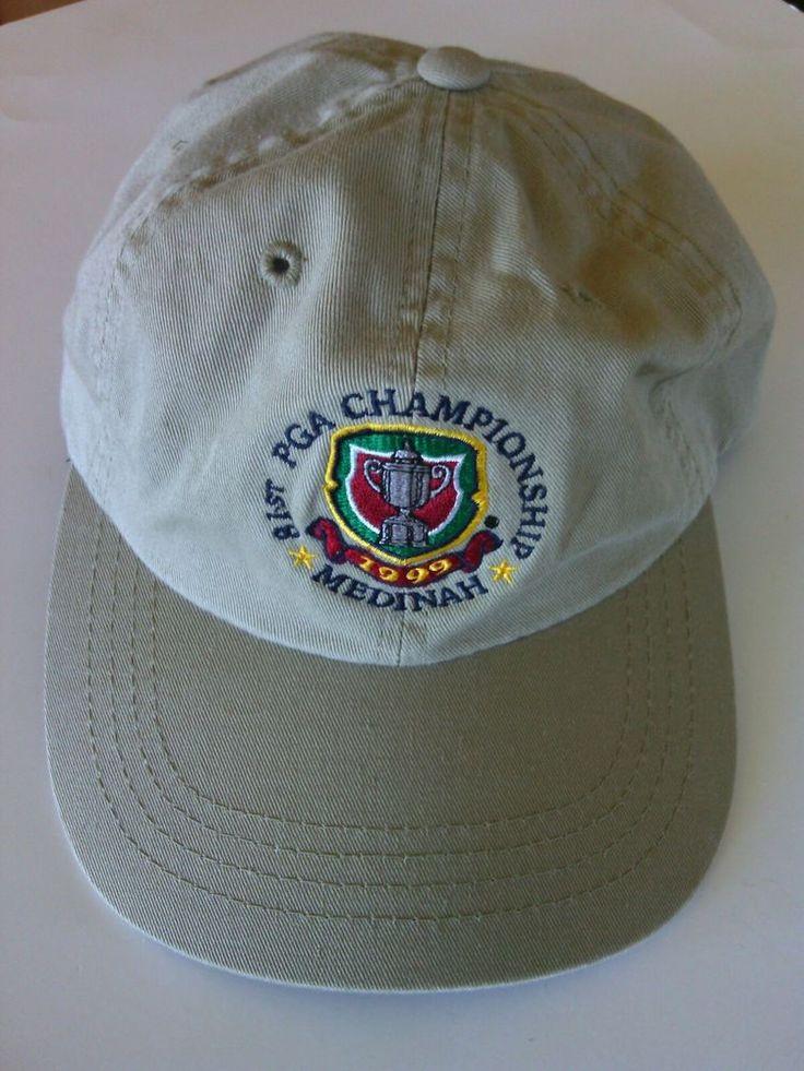PGA Golf Championship Baseball Cap Medinah 81st 1999 Tiger Sergio Beige Hat Tour | eBay