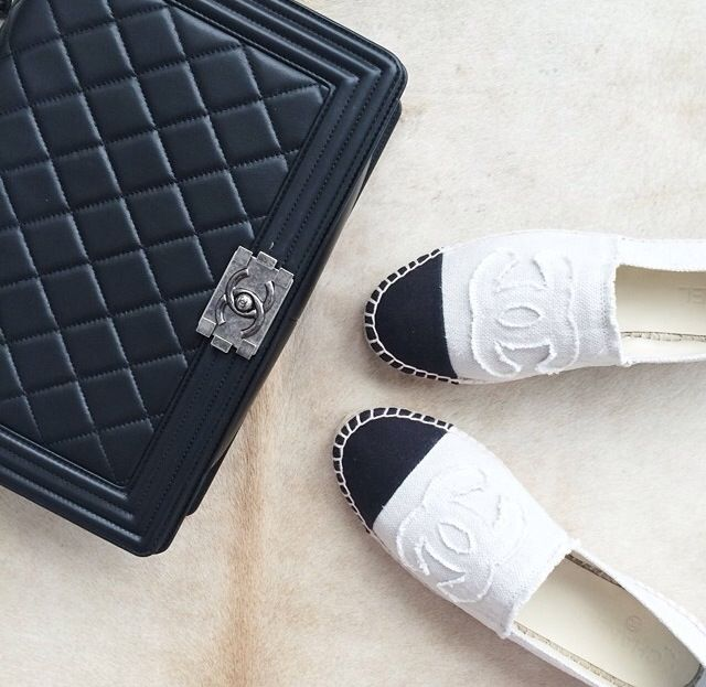 chanel boy bag and espadrilles a little dash of darling