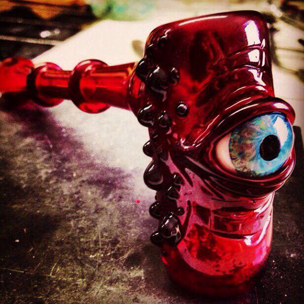 Eyeball Glass Water Pipe #bubbler