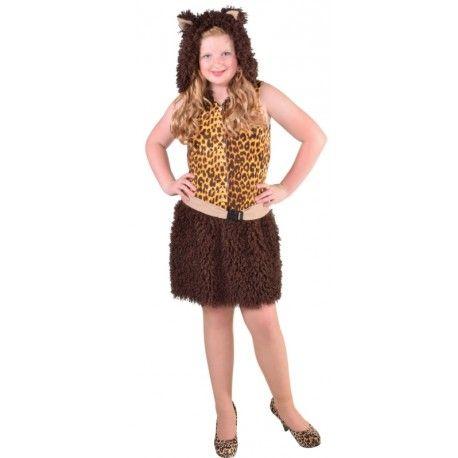 Déguisement chat léopard brun fille luxe
