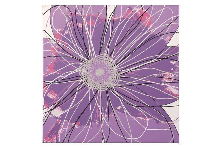 Berdina Wall Art in Lavender by Ashley from Gardner-White Furniture