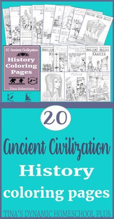 20 Ancient Civilization Coloring Pages. Grab these AWESOME pages at Tina's Dynamic Homeschool Plus