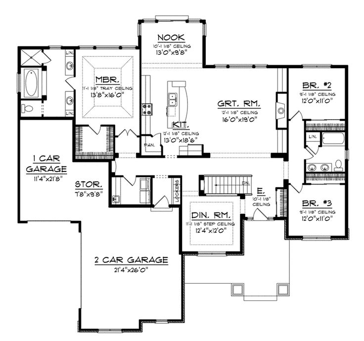 Craftsman House Plans Ranch Style: 47 Best Images About House Plans On Pinterest