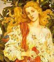 Ella es Juno, su nombre en griego es Hera, es la reina de los dioses, protectora del matrimonio y de la familia. Sus atributos son el pavo real y la corona.