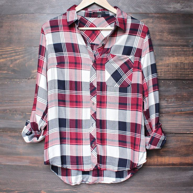 http://www.popularclothingstyles.com/category/flannel-shirt/ city strut plaid flannel shirt - red