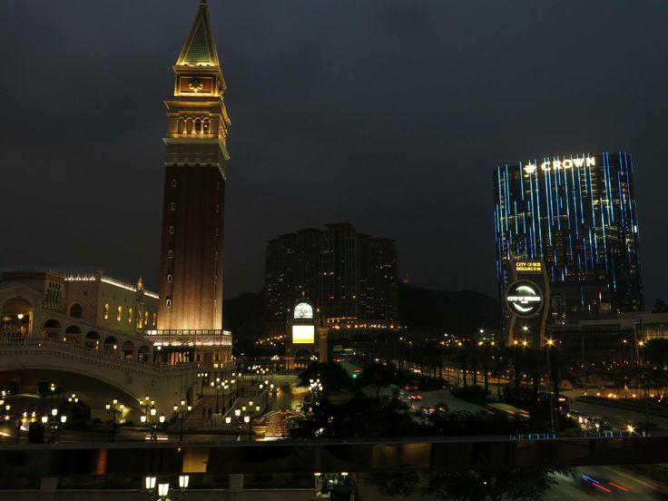 Downtown Macau by night