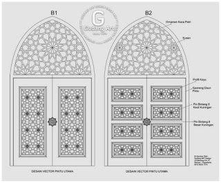 Desain Pola Ornamen Pintu Masjid terbaru