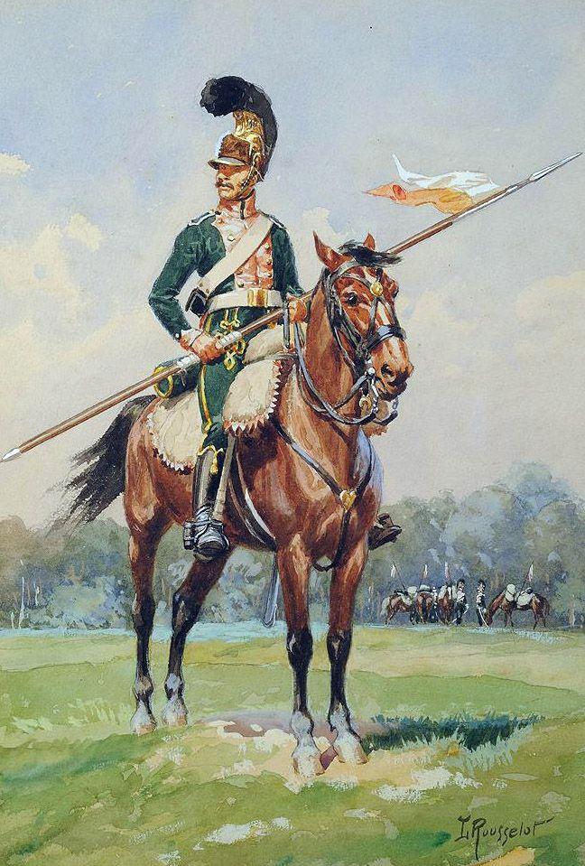 FRANCE - Cavalleggero del 3 reggimento cavalleggeri francese - Lucien Rousselot