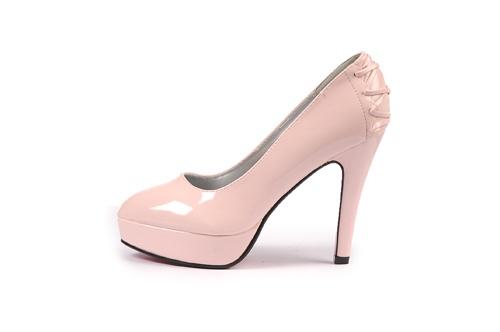 Pembe ve sadece pembe...   Çapraz Bant Bayan Platform Ayakkabı