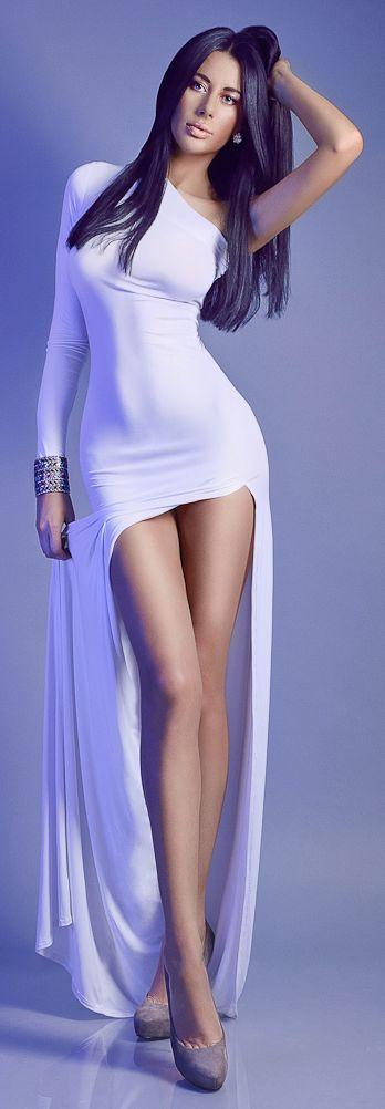 WOW white maxi dress - sexy!