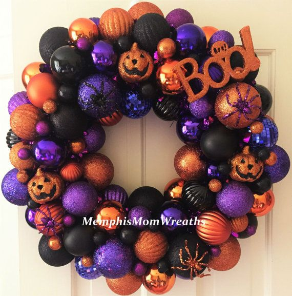 Halloween Ornament Wreath Halloween Wreath by MemphisMomWreaths