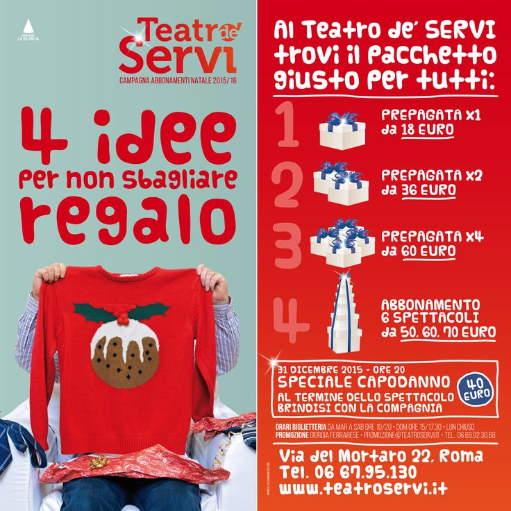 Xmas Theatre Poster Design #segnalacommedie #commedieitaliane