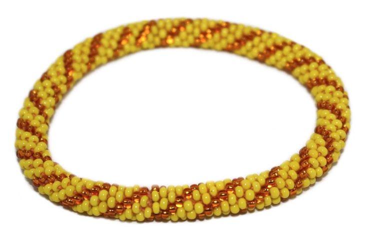 Nepal Bracelet, Roll On Bracelet, Glass bead bracelet, Tribal bracelet, Boho Bracelet ONNE