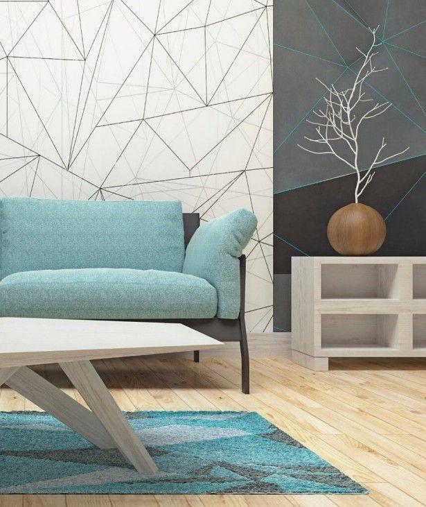 Living Room Color Ideas Wooden Tile Carpet Texture Table Wood Sofas Blue Storage Ceramics Plant Pots Wall Painting Unique Wonderful