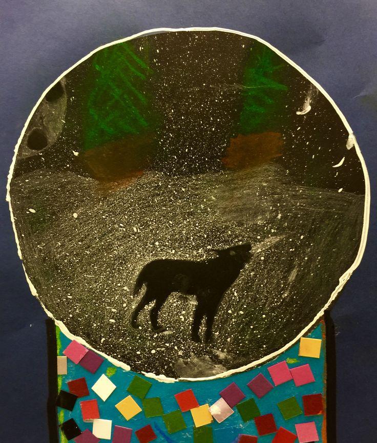 3rd grade. Howling wolf