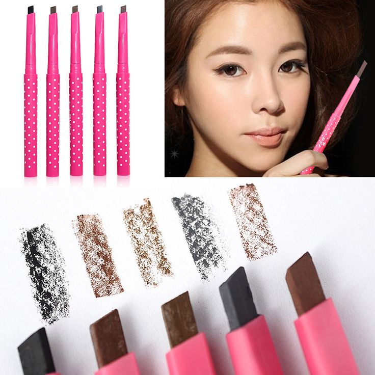 1 PCS HOT Women Ladies Waterproof Brown Eyebrow Pencil Eye Brow Liner Pen Powder Shaper Makeup Tool 5 colors Hot Sale Professional Makeup Brush Set