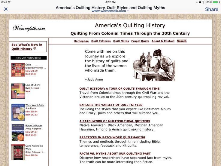 9 best quilt journals images on Pinterest | Journal ideas ... : quilting history facts - Adamdwight.com