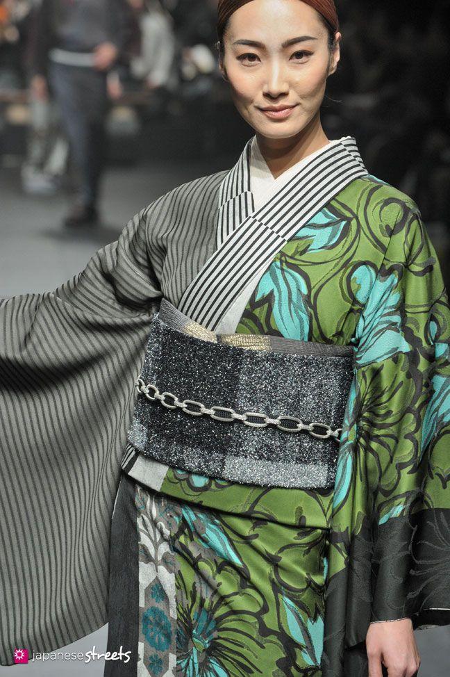 140319-7809 - Autumn/Winter 2014 Collection of Japanese fashion brand JOTARO SAITO on March 19, 2014, in Tokyo.