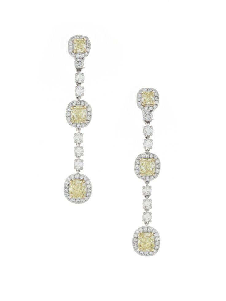 Harry Kotlar Pear Shape Pink Diamond drop Earrings XrU7WhE6m