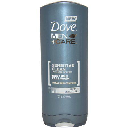 Dove Men Sensitive Clean Body & Face Wash, 13.5 oz
