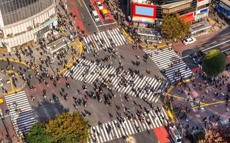 Shibuya Station crossing, Tokyo, Japan