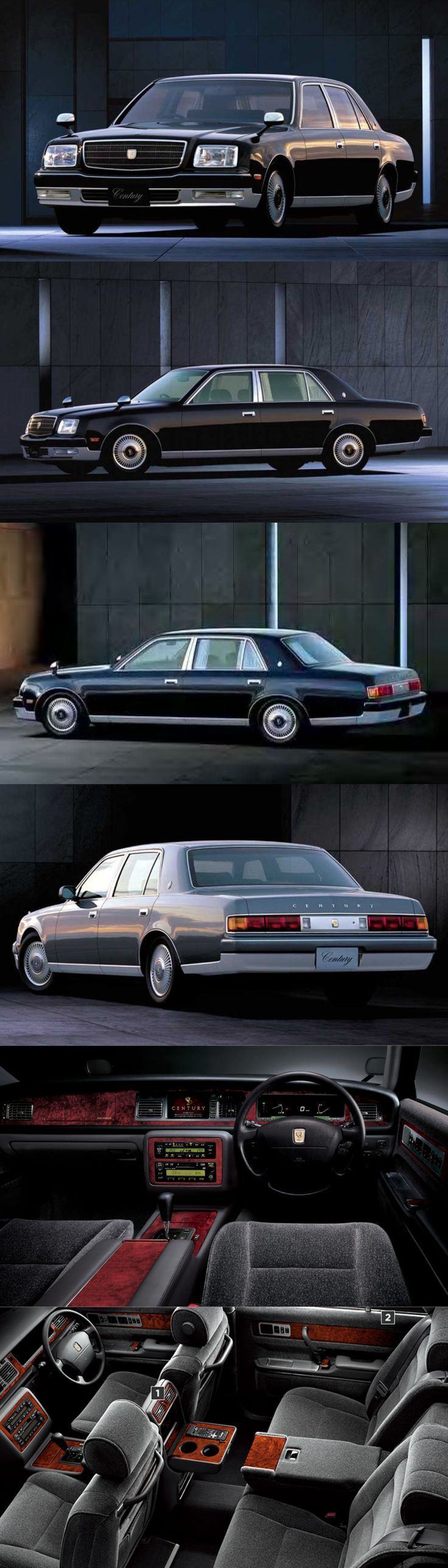 1997 Toyota Century / V12 5.0l 276hp / G50 / black chrome/ Japan / minimalism