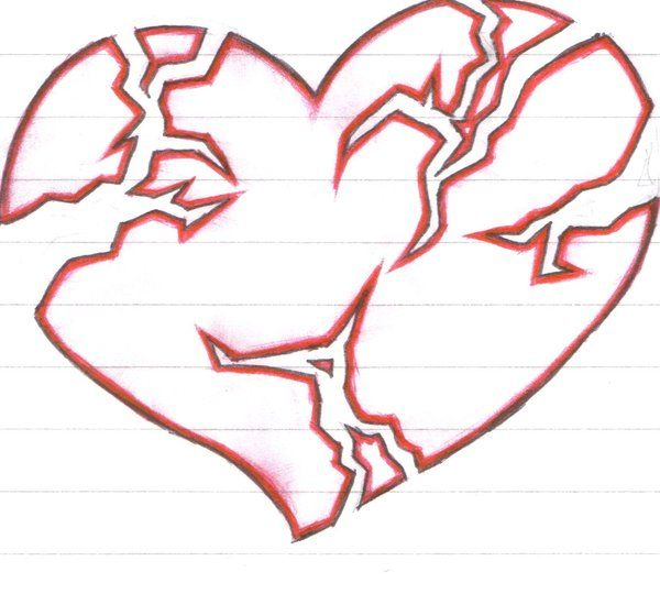 Pin By Andy Diaz On Tattoos Pinterest Broken Heart Drawings