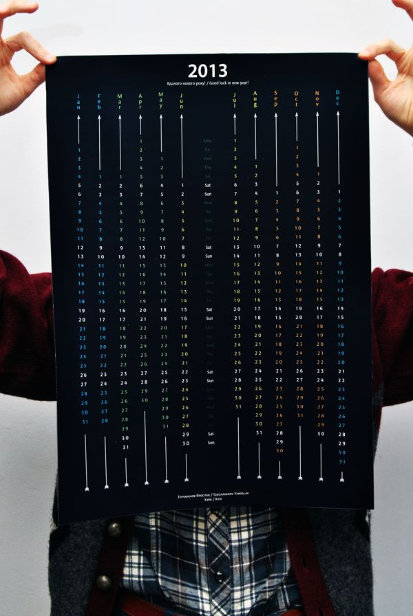 awesome black Calendar 2013 by Yaroslav Turchaninov, via Behance