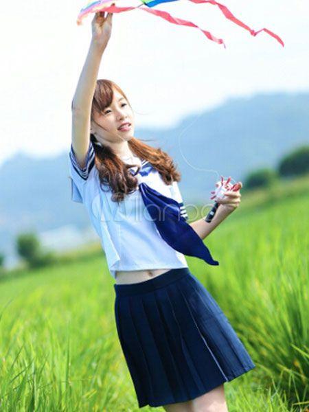 Dulce chica Cosplay traje japonés de la escuela uniforme - Milanoo.com
