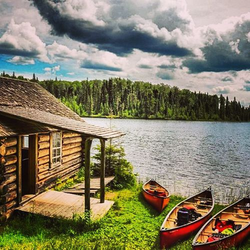 Grey Owl's Cabin, found in Prince Albert National Park. This amazing photo is by Instagrammer chelseacoupal: http://instagram.com/p/bq5rskl_l_/.
