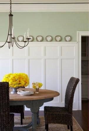 Georgian Wainscot in MasterWall Colors, Dining Rooms, Decor Ideas, Design Bedroom, Thrifty Decor, Wainscoting Ideas, Entry Room, Boards And Batten, Dining Room Wall