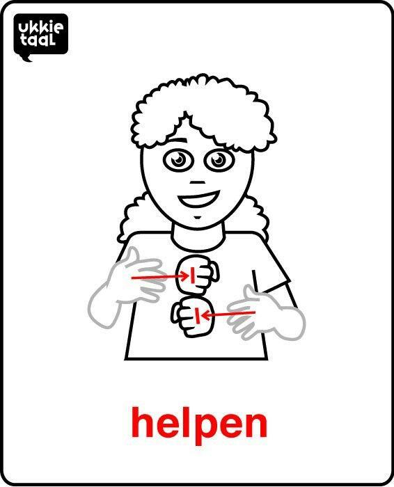 gebaar helpen