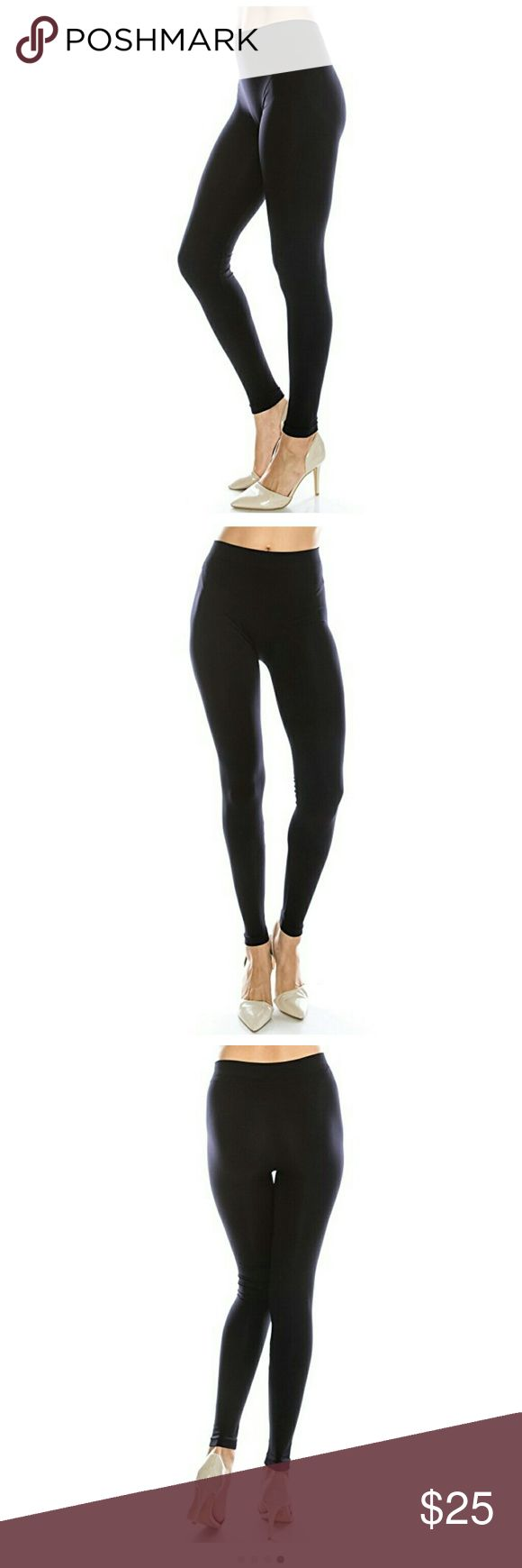 """NEW BLACK YOGA/ TIGHT LEGGINGS Brand NEW,OMG these are one of the most comfortable leggings ever. They are, so so soft and keeps their shape. These are actually yoga leggings, but you can use them as tight. They run true to size. I bought a small and a large thinking I wouldn't fit the small. But at 5'2"""" inches the small fits true to size. So I'm selling the large which is still in its original package. Here are the approximate measurement when it's not stretched. Size: (L) waist 28"""" length…"""